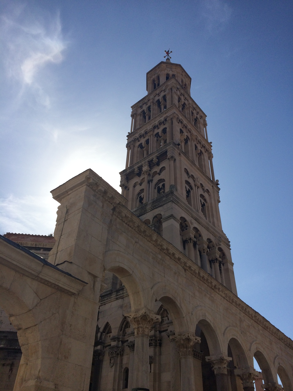 St. Domnius Cathedral Bell Tower in old town Split.