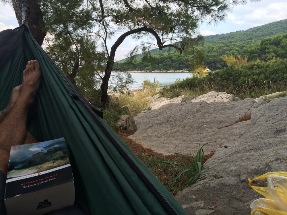 Nothing like relaxing in a hammock with a good book next to the water... or so I thought.