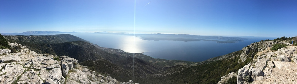 Panoramic shot from the top of Brac Island.
