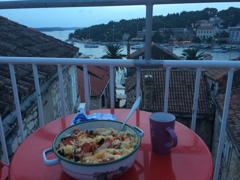 I could pay for a meal at a nice restaurant, but surely the view would be a disappointment by comparison to my hostel.