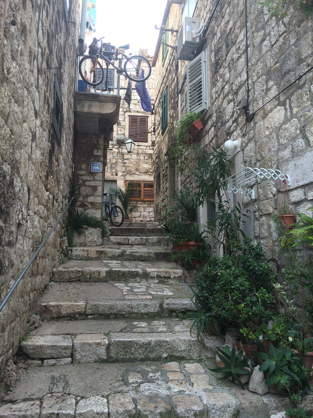 The tranquil streets of Hvar.