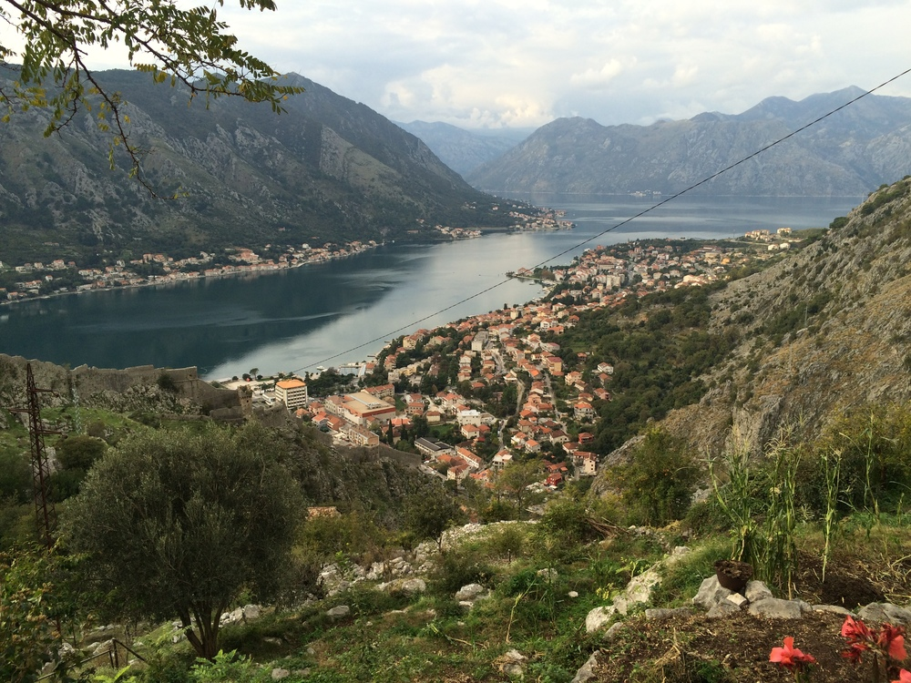 View of Kotor from St. John's Fortress.