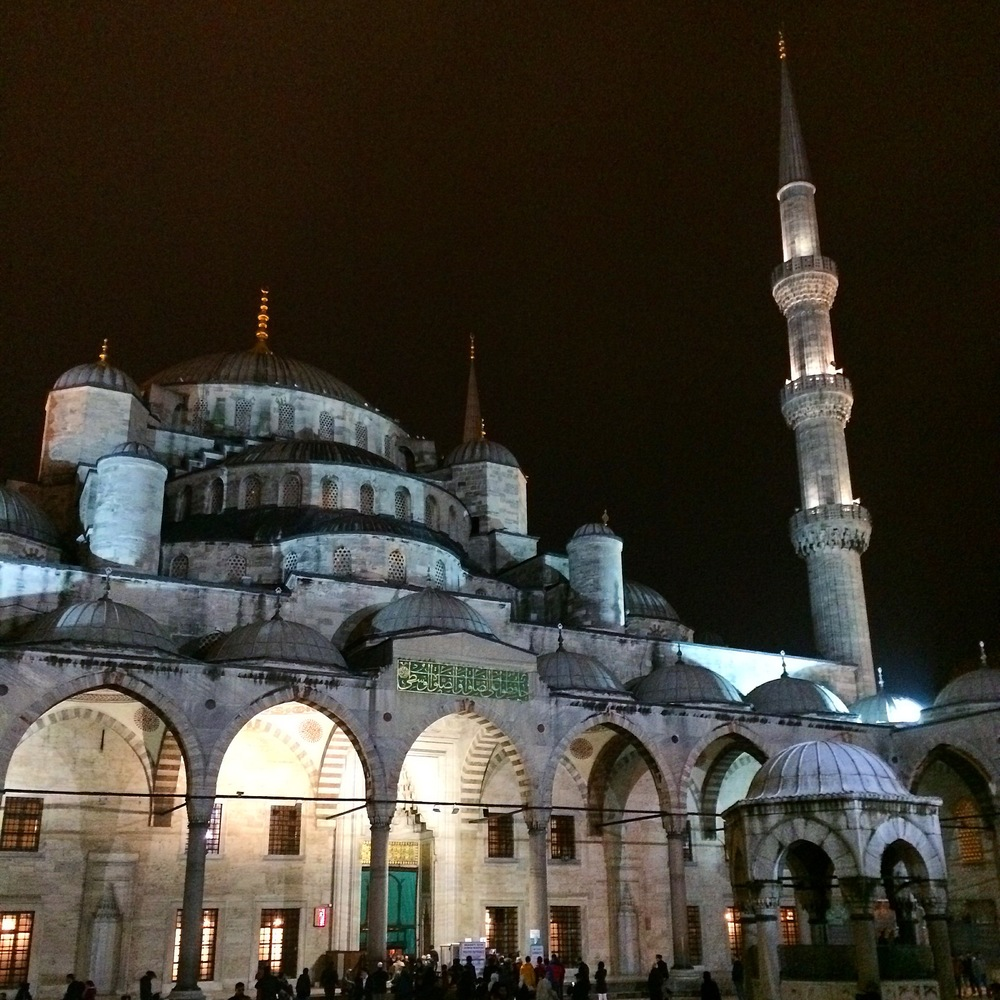 The famous Blue Mosque in the center of Istanbul.