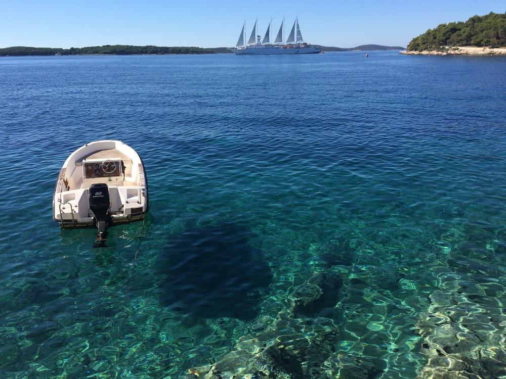 My version of paradise in Hvar, Croatia.