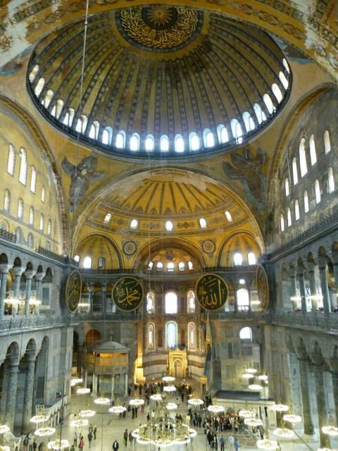This isthe picture of the Hagia Sophia that I remember seeing in my old art history textbook. It's haunted me ever since.