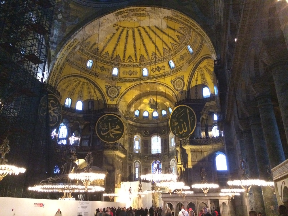 I can't believe I'm in the Hagia Sophia!