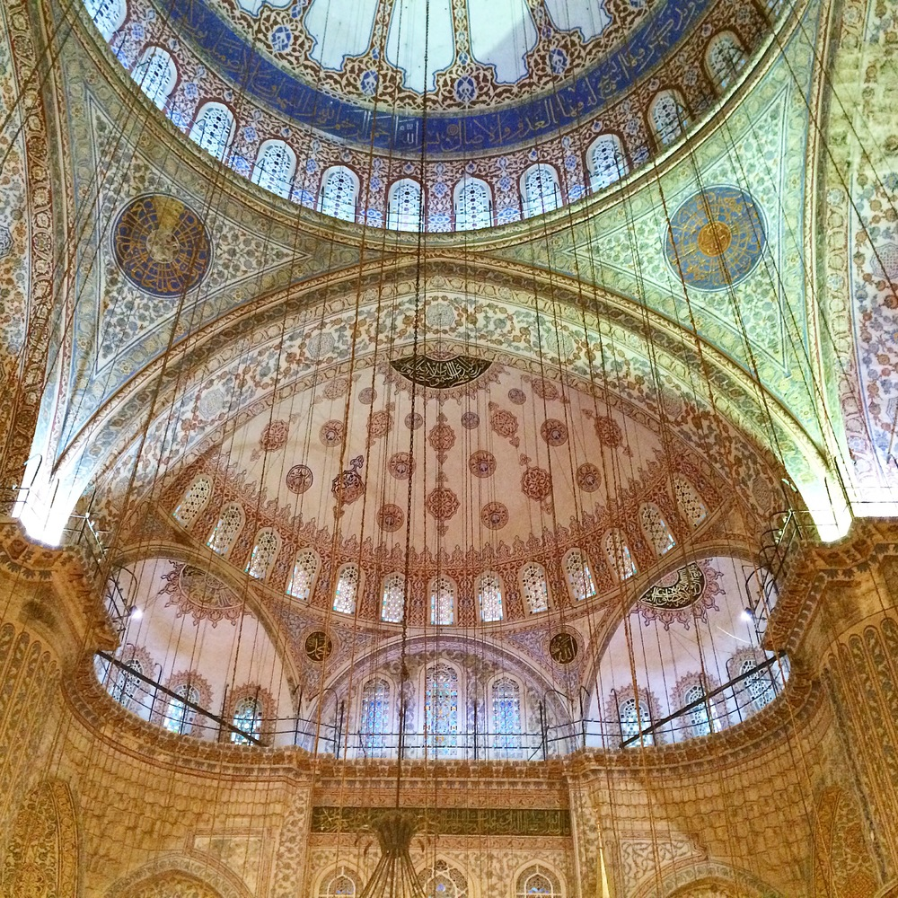 The gorgeous dome of the Blue Mosque. Just ignore the cables.