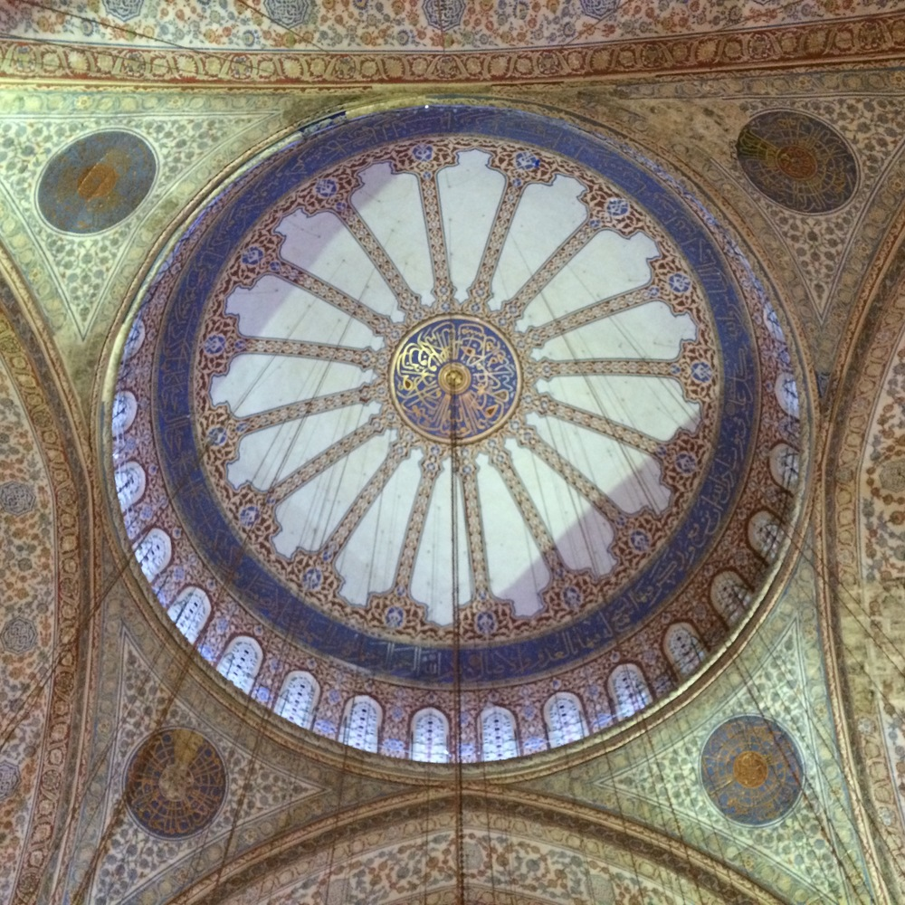Another view of the inside of the Blue Mosque.