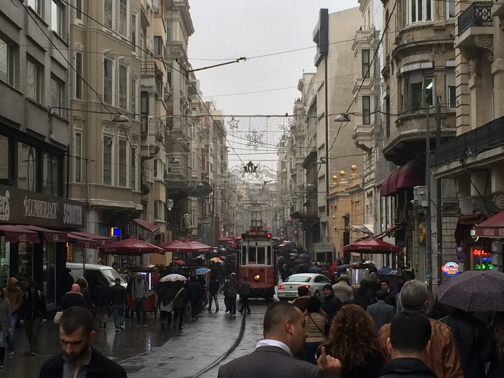 The shopping street of  Istiklal Ave.