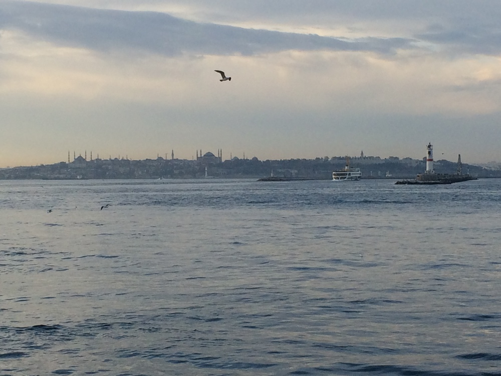 View of the old town of Istanbul from the Asian side.