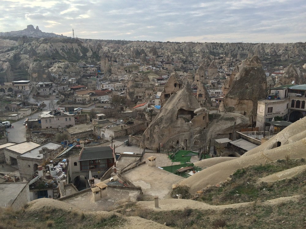 Goreme with Uchisar in the background.
