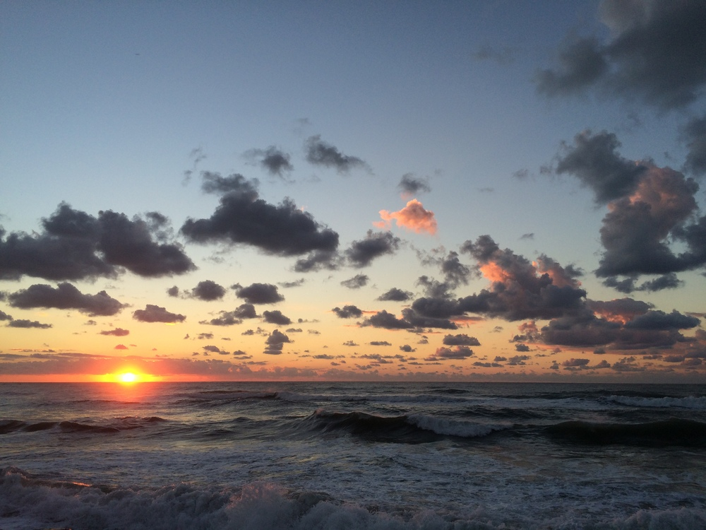 Sunsets along the coast of Tel Aviv.