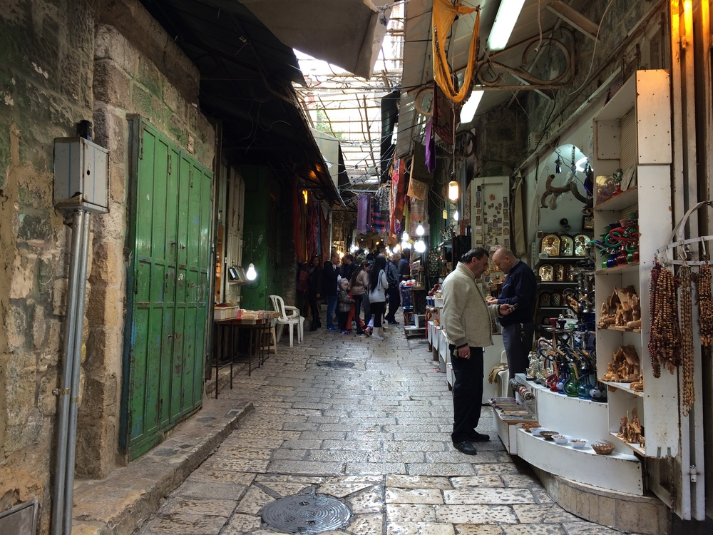 The streets of old town Jerusalem.