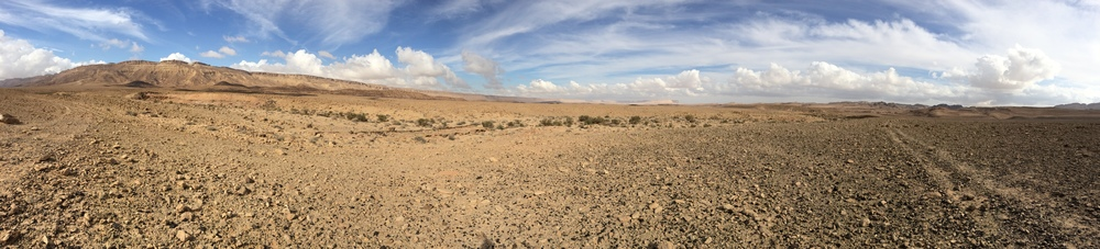 Panoramic shot of the crater at the base. I looks like I'm on Mars!