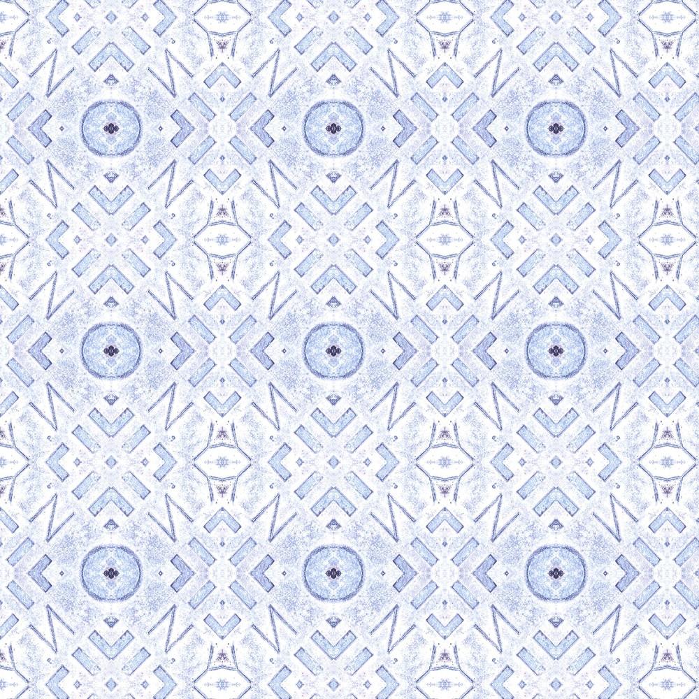 Manhole Cover I - Sky Blue