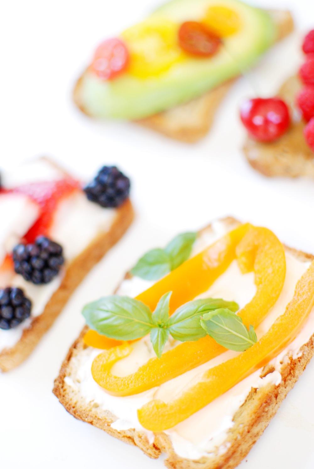 gluten free toast 4 ways