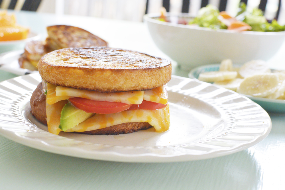 Vegetable grilled cheese