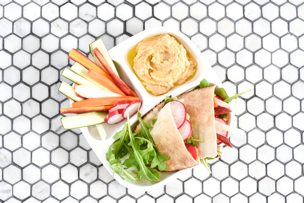 Gluten free pita with homemade hummus recipe