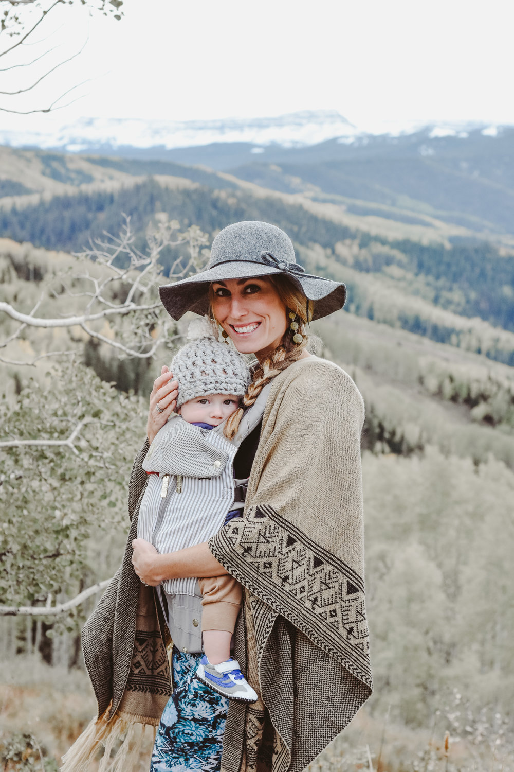 Baby wearing with Lillie Baby