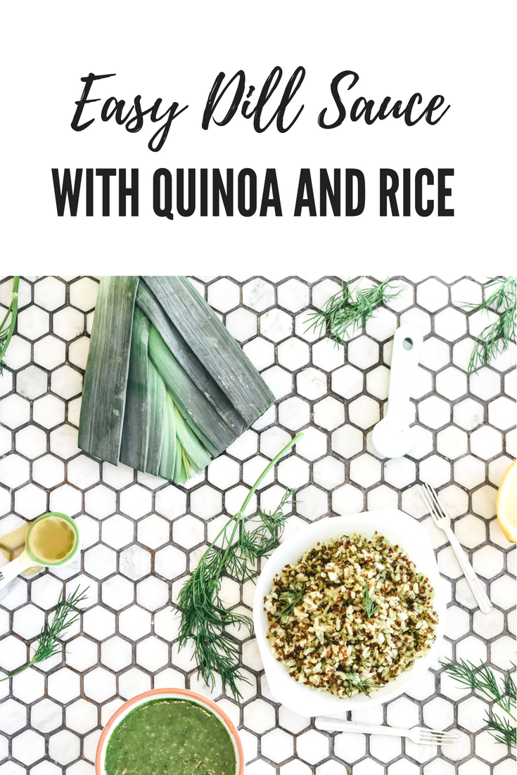 Easy dill sauce with quinoa and rice.png