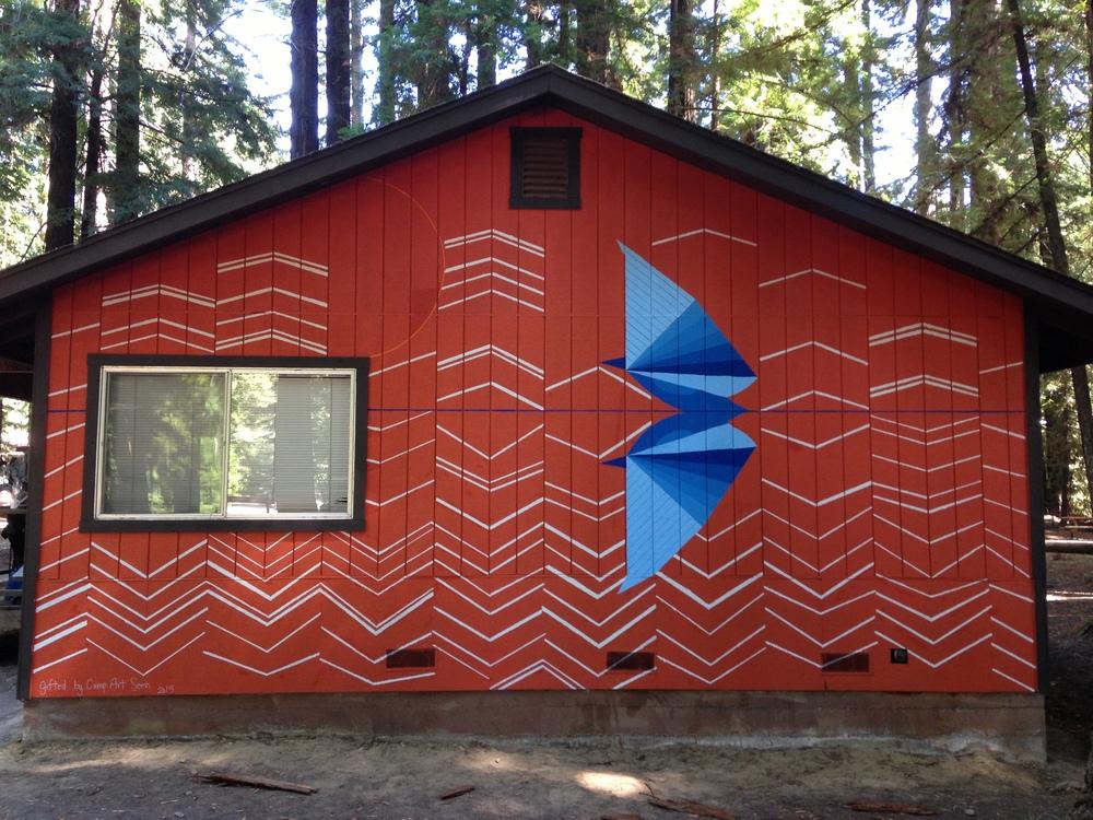 Camp ArtSeen Mural at Camp Navarro