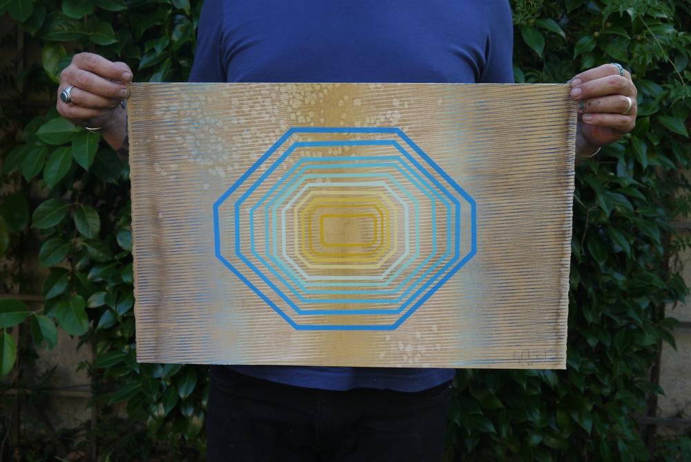 """Space Elevator"" Silkscreen print"