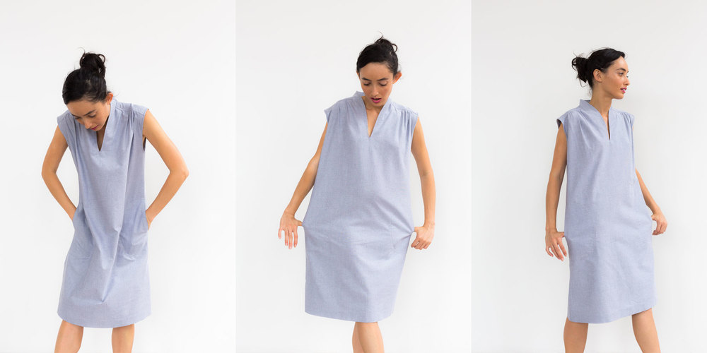 Oxford Paperbag Dress