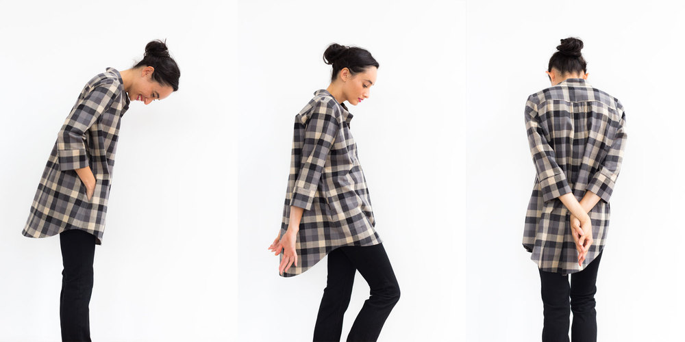 Plaid Nehru Tunic