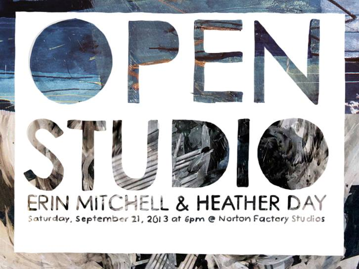 We are opening up our studio for the fundraiser at Norton Factory Studios! Help us build a fun and engaging space for teaching and learning art. Come see the behind the scenes studio work by Erin Mitchell and myself. Click HERE to RSVP on Facebook.