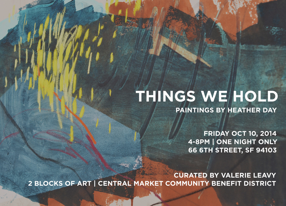 Things We Hold | Heather Day Solo Show