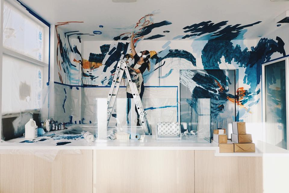 Painting The Mural : Craftsman & Wolves | Heather Day Journal