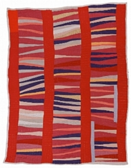 """Bars and String   Pieced Columns""quilted by Jessie T. Pettway in the 1950s. (Stephen Pitkin Studio)"