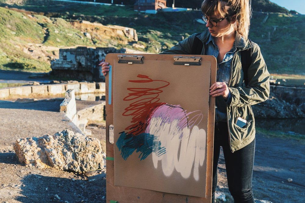 Sutro #1 Painting by Heather Day at Lands End, San Francisco | Heather Day Journal