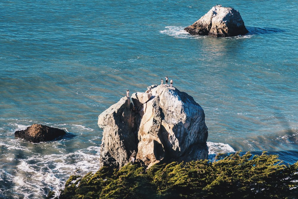 Swimmers at Lands End, San Francisco | Heather Day Journal