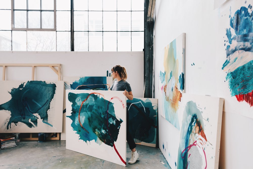 Heather Day in her San Francisco Studio