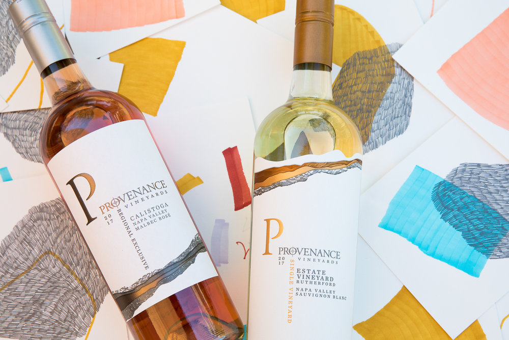 Bottles from Provenance Vineyards in Napa Valley