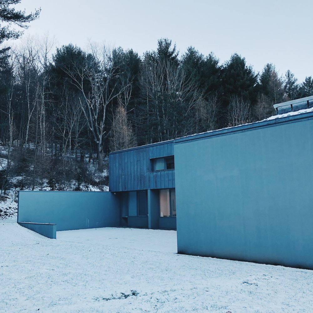 Ellsworth Kelly's studio in Spencertown, New York