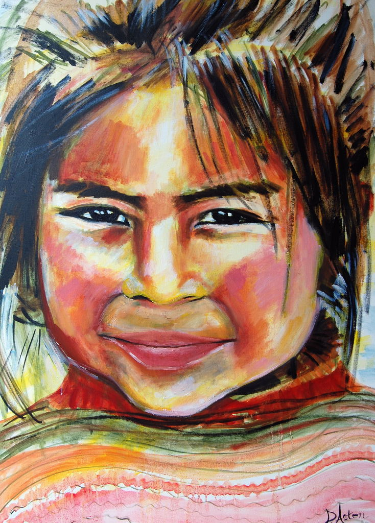 Girl from Ollantaytambo oils.JPG