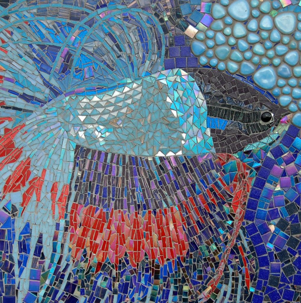 Detail 'Bettas' mosaic panel by Dawn Aston  ht 2' x w 4 '-001.JPG