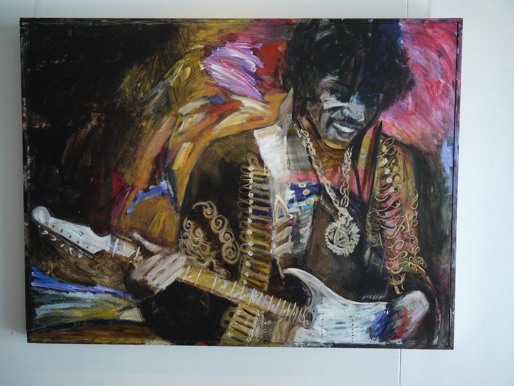 'Jimi' acrylic painting