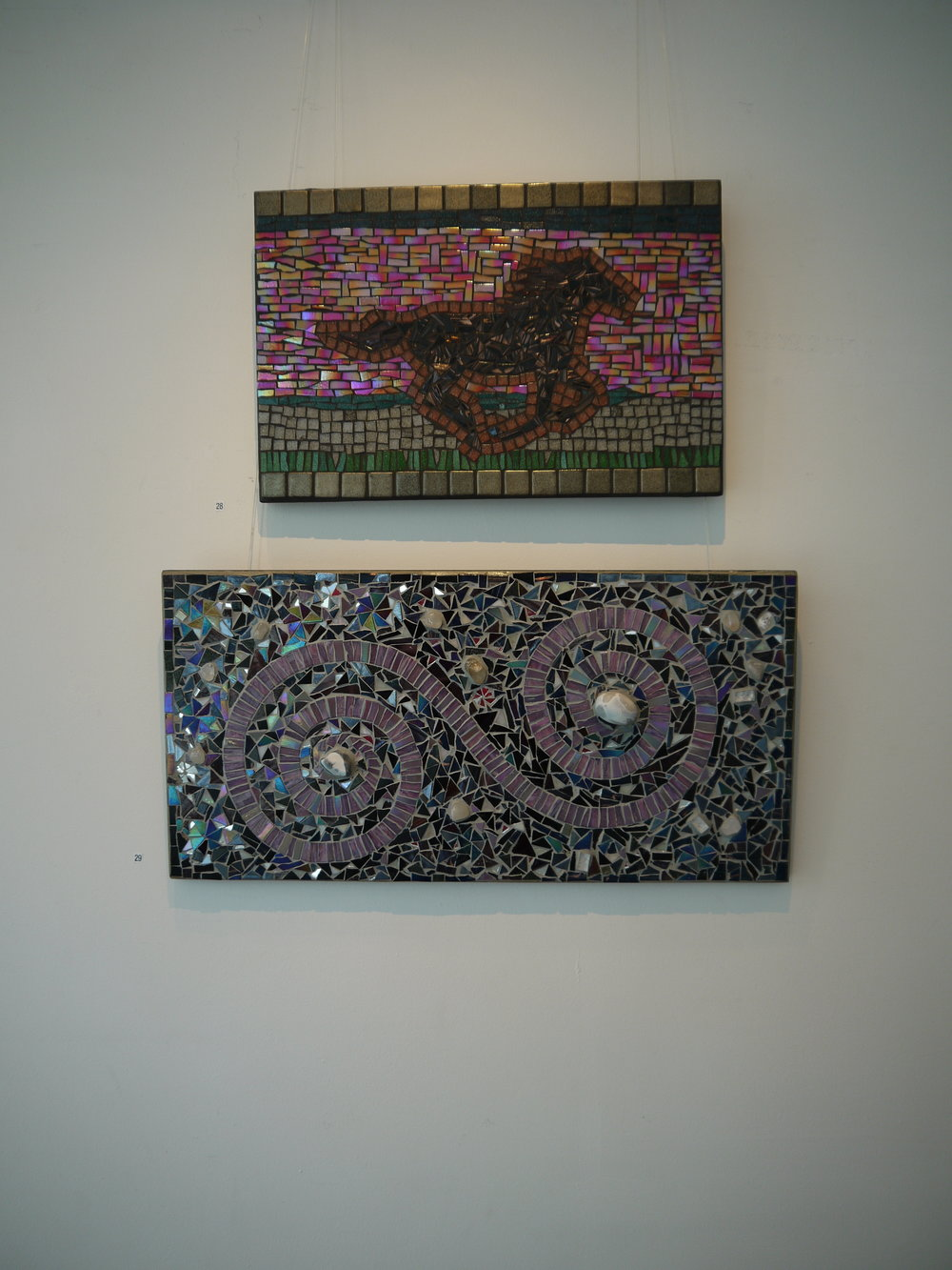 'The Wind is a Horse' mosaic  'Clothoid spiral' mosaic