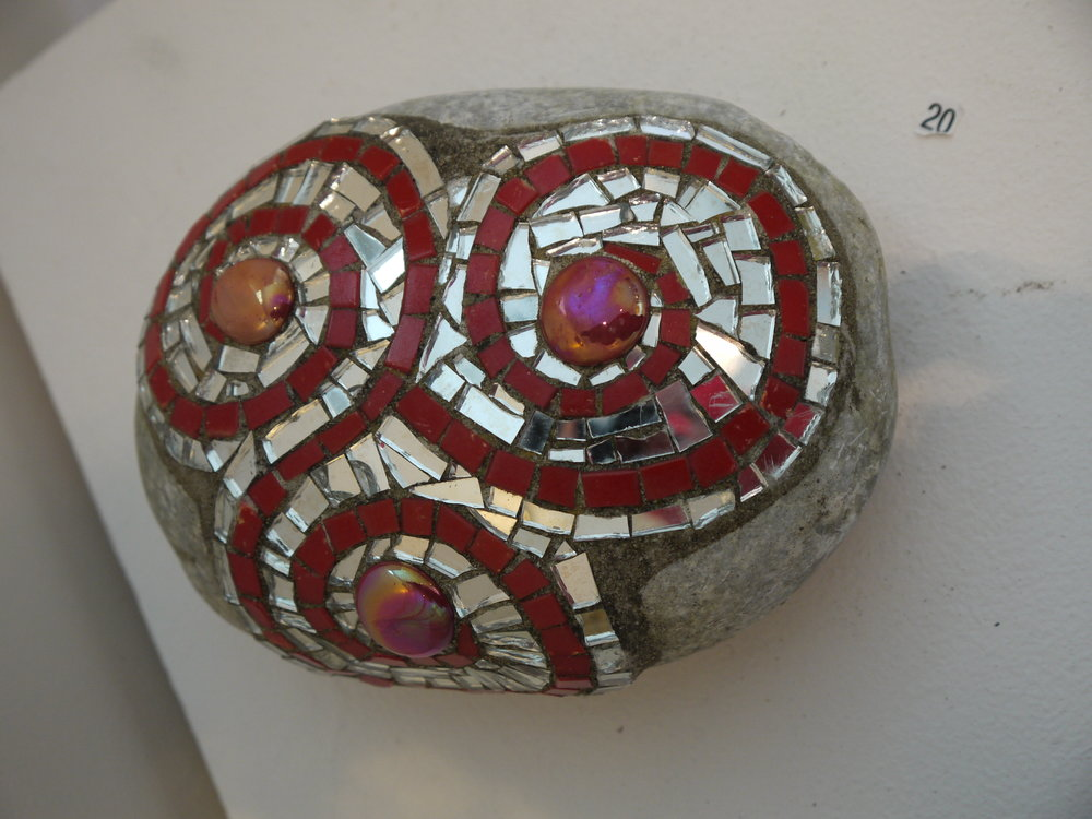 Triskele spiral mosaic