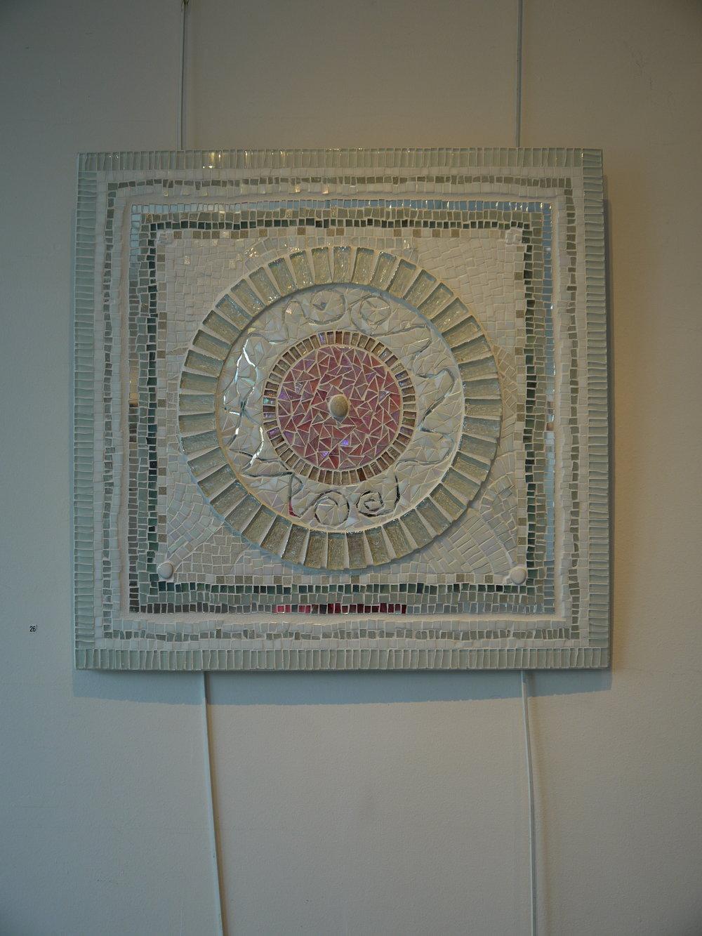 White Mandala mosaic