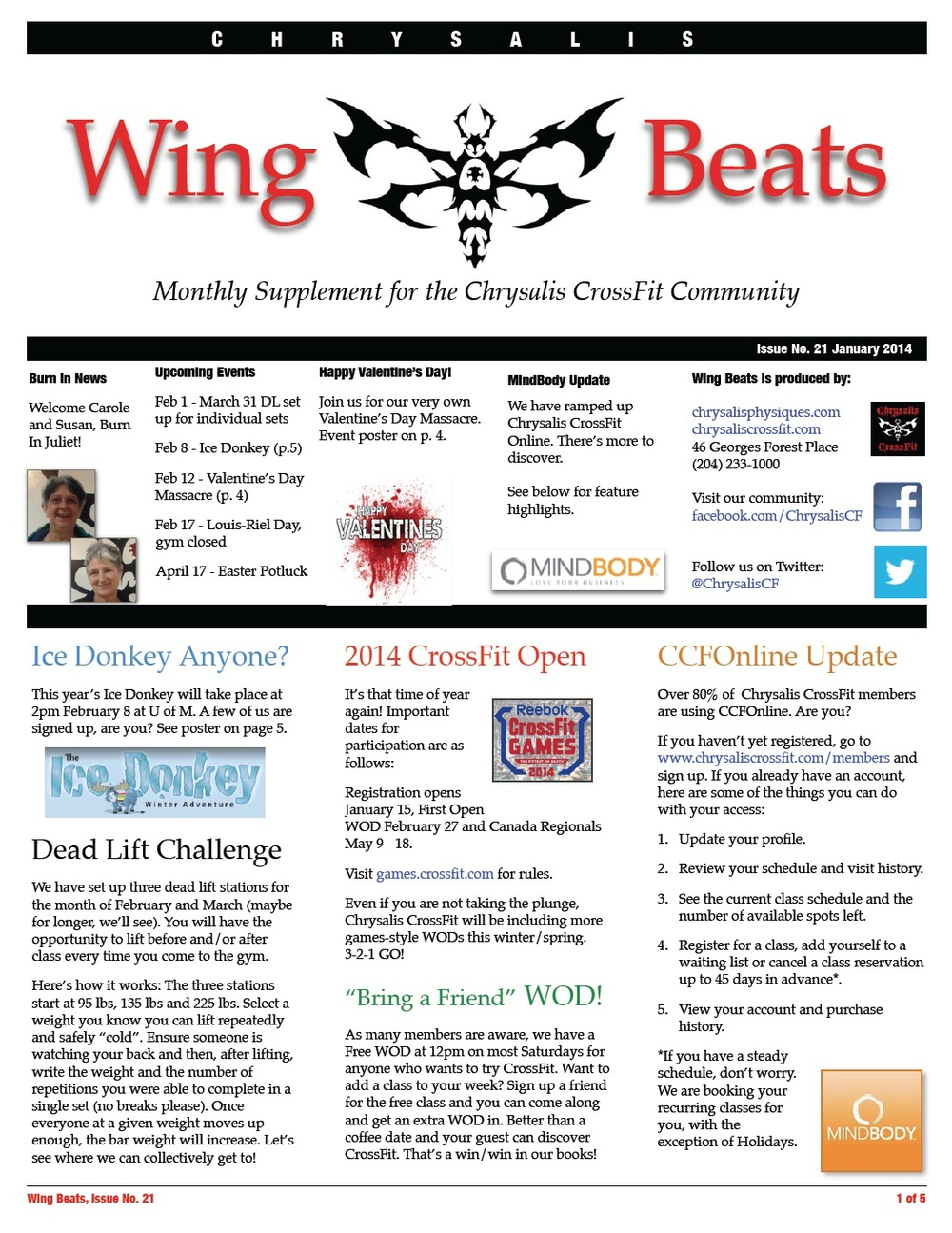 WingBeats Issue #21 - January 2014