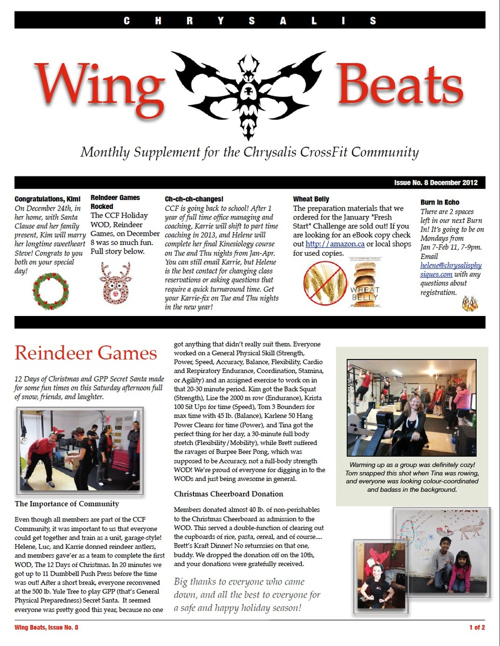 WingBeats Issue #8 - December 2012