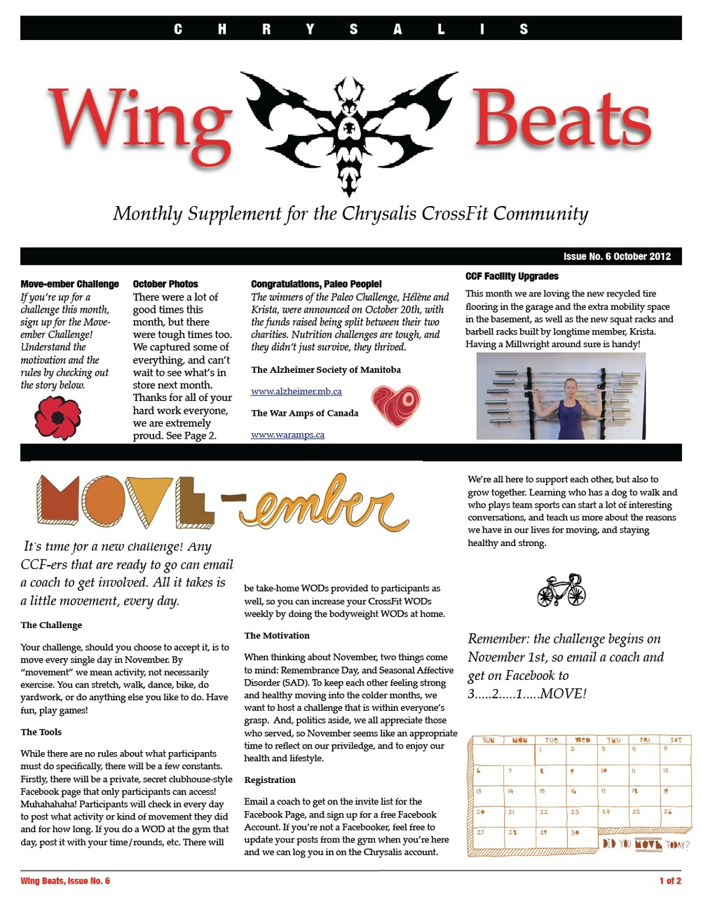 WingBeats Issue #6 - October 2012