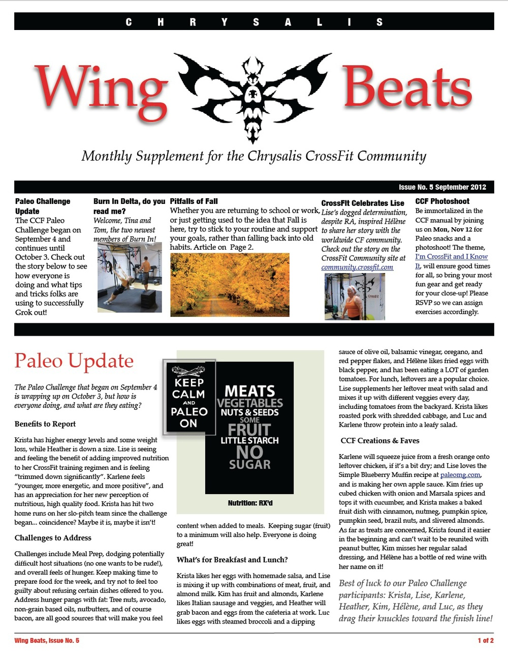 WingBeats Issue #5 - September 2012