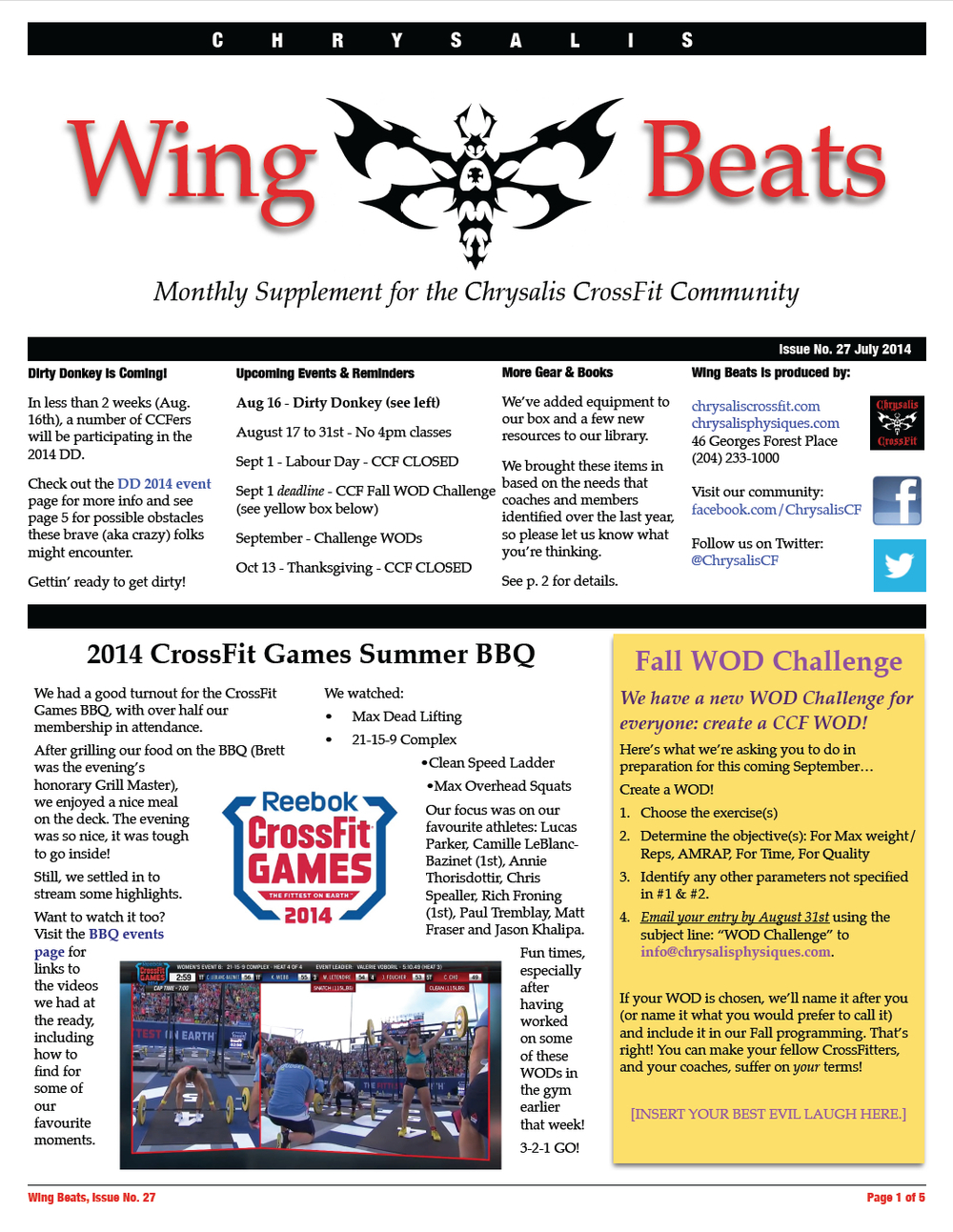 WingBeats Issue #27 - July 2014