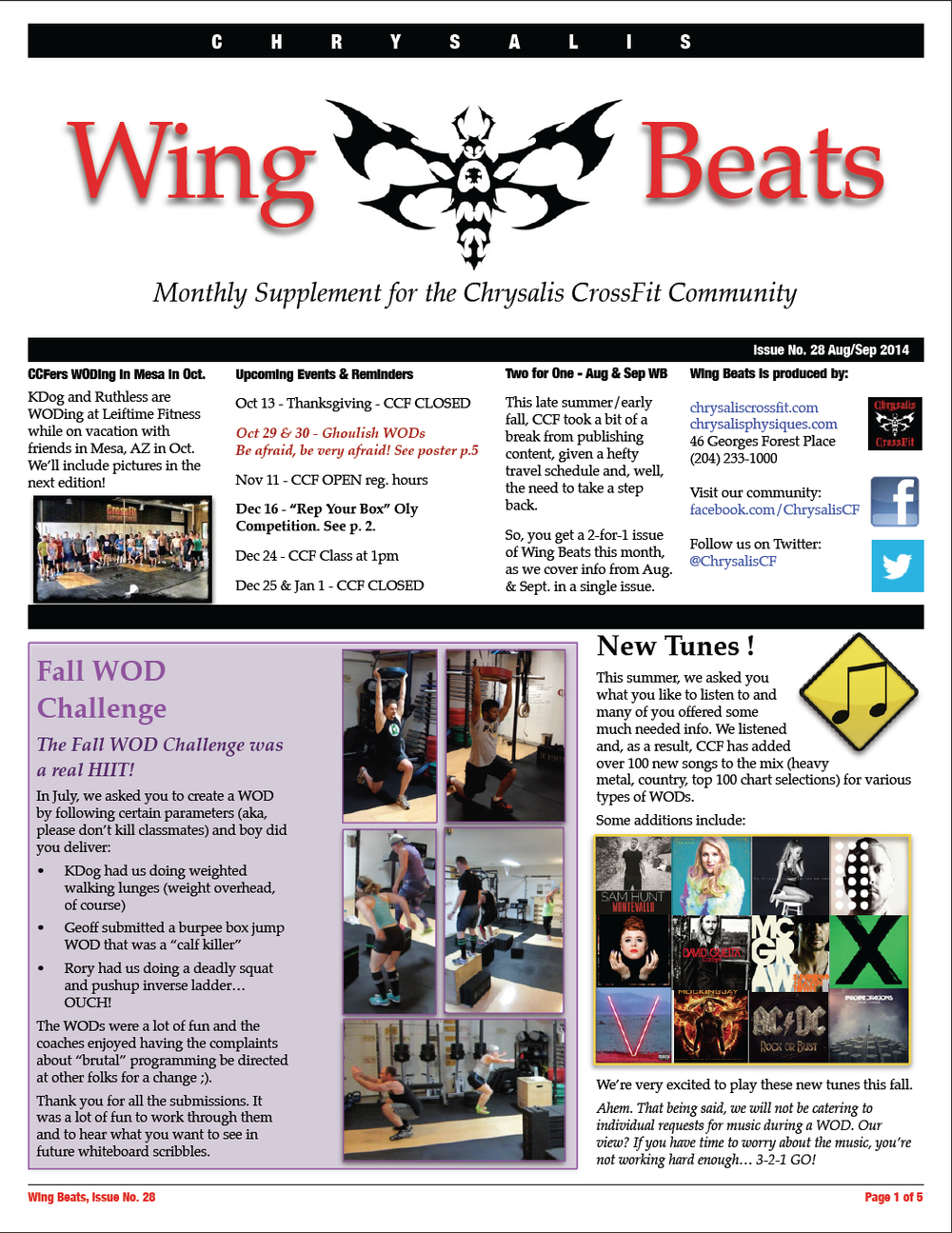 WingBeats Issue #28 - AugSept 2014