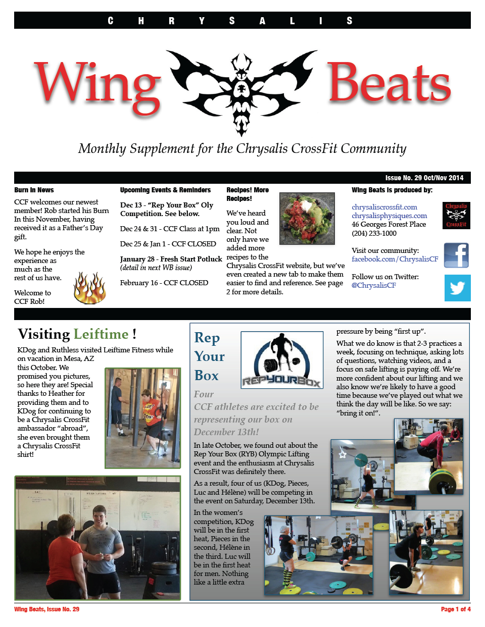 WingBeats Issue #29 - OctNov 2014
